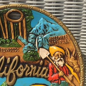 VTG 3D California Monument Ceramic Souvenir Plate